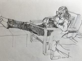 Elbow Room Kevin Mc Clelland Pencil On Paper 35X25Cm