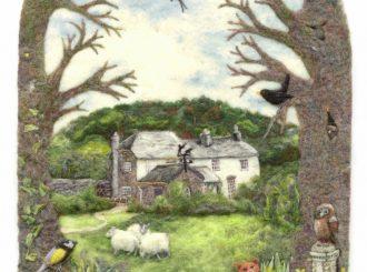 Orch by Suzie Sullivan (Limited edition giclee print of original textile piece, 61x91cm, Unframed £125)