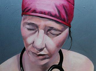 Quiet Inside by Gaelle Berthelot (Acrylic, 50x50cm)