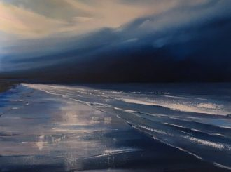 Shimmering Waters by Paula McKinney (Oil on board, 24x24inches, Framed £799)